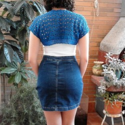 Torera Crochet o Ganchillo Azul