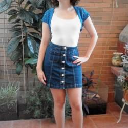 Torera Crochet Azul