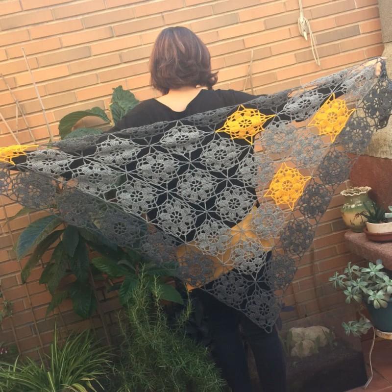 pico ganchillo floral