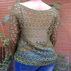 jersey ganchillo verde espalda